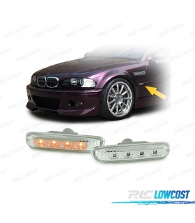 INTERMITENTES LATERALES LED BLANCOS PARA E46 BERLINA 98-01 COUPE 99-03