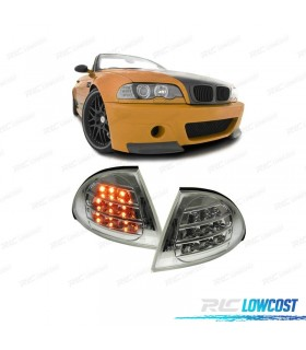INTERMITENTES FRONTALES CROMADOS CON LED BMW E46 BERLINA 98-01