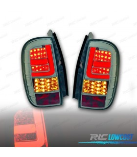 PILOTOS TRASEROS DACIA DUSTER 10-13 LIGHT BAR / LED FONDO CROMO/AHUMADO*REVISADO*