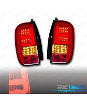 PILOTOS TRASEROS DACIA DUSTER 10-13 LIGHT BAR / LED ROJO/CROMO*REVISADO*