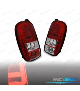 PILOTOS TRASEROS DACIA DUSTER 10-13 LIGHT BAR ROJO/CROMO*REVISADO*