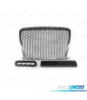 PARRILLA AUDI A6 4F 08-11 LOOK RS6 COLOR PLATA*REVISADO*