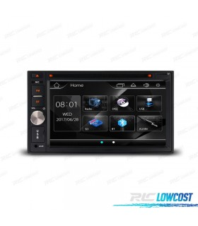 "RADIO 2DIN CON PANTALLA DE 6,2"" HD TÁCTIL BLUETOOTH USB SD"