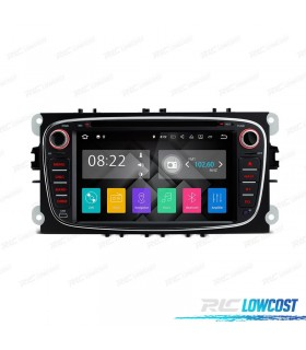 "RADIO NAVEGADOR ANDROID 7.1 7"" FORD REDONDA COLOR NEGRO USB GPS TACTIL HD"