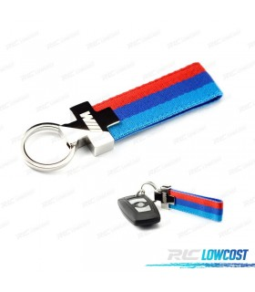 LLAVERO BMW M POWER TELA TRICOLOR*REVISADO*