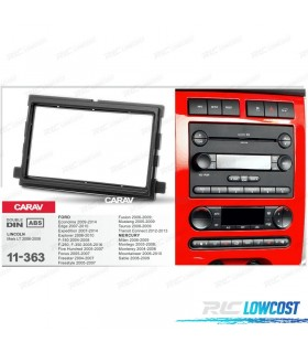 MARCO ADAPTADOR PRETA PARA RADIO 2-DIN FORD EDGE EXPEDITION EXPLORER F-150 F-250 F-350 FOCUS FUSION MUSTANG TRANSIT CONNECT