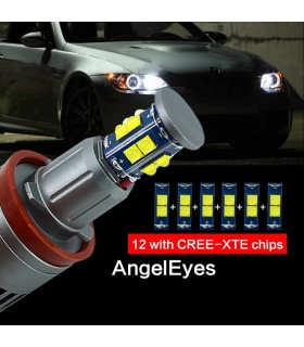 KIT BOMBILLAS ANGEL EYES LED 120W PARA BMW E90 E92 X5 E71 X6 E82 E60 E70 2007/2011