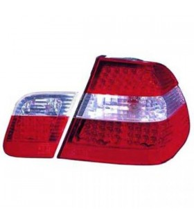 PILOTOS LED BMW E46, 98-01 SOLO BERLINA - CRISTAL CLARO ROJO BLANCO