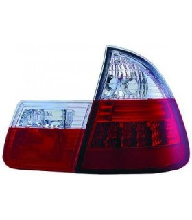 PILOTOS BMW E46, 98-05 CRISTAL ROJO-BLANCO SOLO TOURING LED