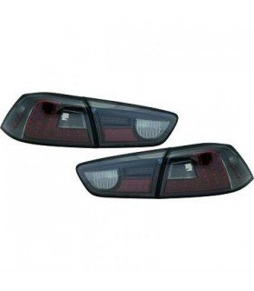 PILOTOS TRASEROS LED LANCER, SEDAN 08++. CRISTAL CLARO/NEGRO