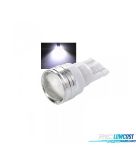 1 BOMBILLA LED T10 TIPO COB CON LUPA.