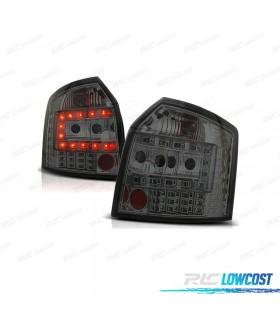 PILOTOS TRASEROS AUDI A4 B6 AVANT 01-04 LED FONDO CROMO/AHUMADO
