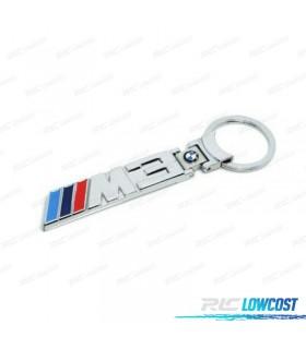 LLAVERO BMW SERIE 3 METAL CROMADO