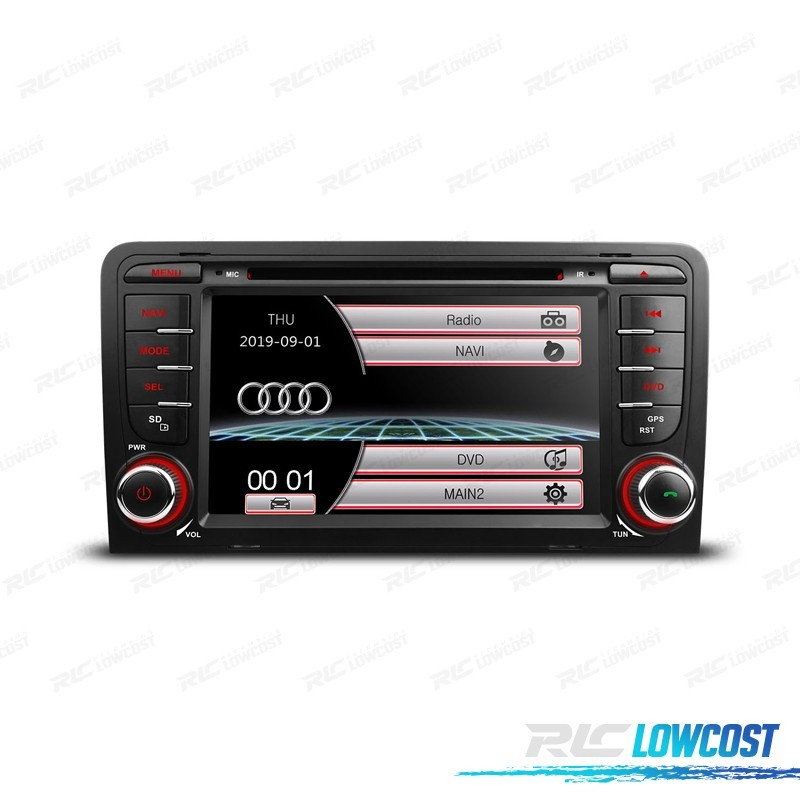 "RADIO NAVEGADOR 7"" AUDI A3 8P 03-12 USB GPS TACTIL HD*NUEVO*"