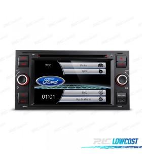"RADIO NAVEGADOR 7"" FORD CUADRADA COLOR NEGRO USB GPS TACTIL HD*NUEVO*"