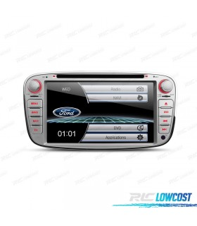 "RADIO NAVEGADOR 7"" FORD REDONDA COLOR GRIS USB GPS TACTIL HD"