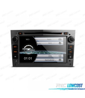 "RADIO NAVEGADOR 7"" OPEL COLOR GRIS OSCURO USB GPS TACTIL HD"