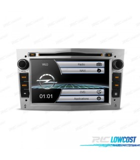 "RADIO NAVEGADOR 7"" OPEL COLOR GRIS CLARO USB GPS TACTIL HD"