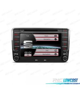 """RADIO NAVEGADOR 7"""" SEAT USB GPS TACTIL HD"""