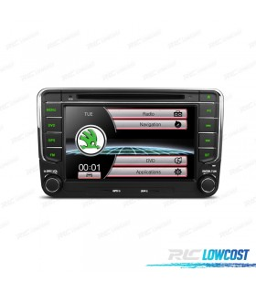 "RADIO NAVEGADOR 7"" SKODA USB GPS TACTIL HD"