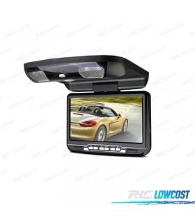 PANTALLA DE TECHO 9 PULGADAS HD USB SD DVD COLOR NEGRO*NUEVO*