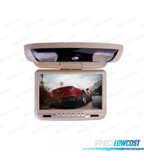 PANTALLA DE TECHO 9 PULGADAS HD USB SD DVD COLOR BEIGE*NUEVO*
