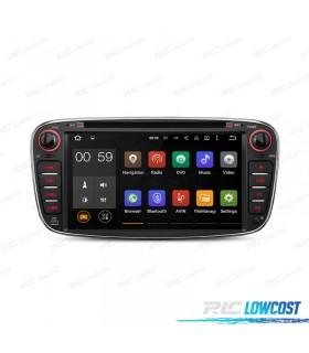 """RADIO NAVEGADOR ANDROID 5.1 7"""" FORD REDONDA COLOR NEGRO USB GPS TACTIL HD"""