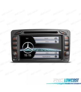 """RADIO NAVEGADOR 7"""" MERCEDES CLASE A C CLK USB GPS TACTIL HD"""