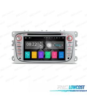 """RADIO NAVEGADOR ANDROID 7.1 7"""" FORD REDONDA COLOR PLATA USB GPS TACTIL HD"""