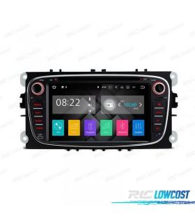 """RADIO NAVEGADOR ANDROID 7.1 7"""" FORD REDONDA COLOR NEGRO USB GPS TACTIL HD"""