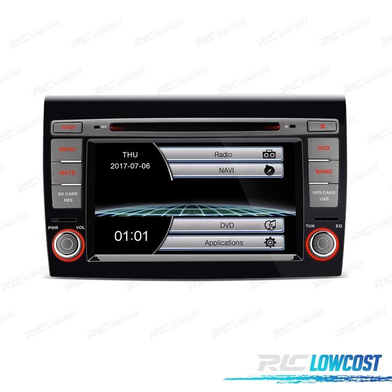 "RADIO NAVEGADOR 7"" FIAT BRAVO 07-14 USB GPS TACTIL HD"