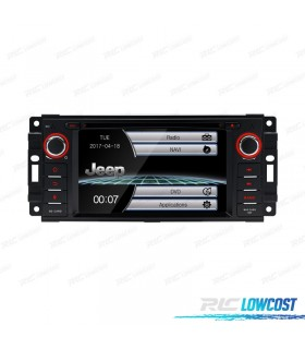 "RADIO NAVEGADOR 6.2"" JEEP WRANGLER 07-12, GRANDE CHEROKEE 08-11 USB GPS TACTIL HD"