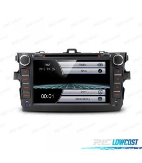"RADIO NAVEGADOR 8"" TOYOTA COROLLA 07-11 USB GPS TACTIL HD"