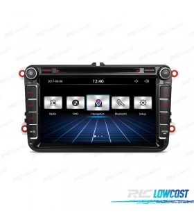 "RADIO NAVEGADOR 8"" VOLKSWAGEN USB GPS TACTIL HD"