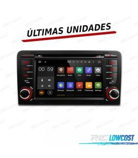 "RADIO NAVEGADOR ANDROID 5.1 7"" AUDI A3 8P/8PA 03-12 USB GPS TACTIL HD"