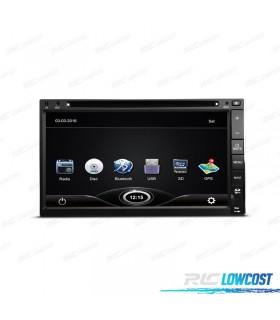 """RADIO NAVEGADOR 2DIN GPS 7"""" HD TÁCTIL BLUETOOTH USB SD CAMARA GRATIS"""