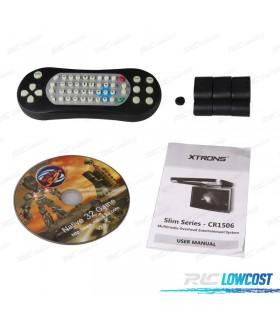 """PANTALLA DE TECHO XTRONS HD DE 15.6"""" DVD HDMI USB JUEGOS 12V/24V"""