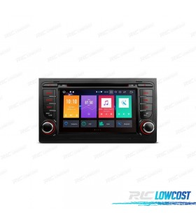 """RADIO DVD GPS LCD TÁCTIL 7"""" AUDI A4 SEAT EXEO ANDROID 8.0 4GB RAM CANBUS"""