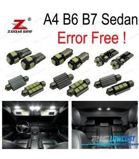 Kit completo de 20 bombillas LED interior para Audi A4 S4 RS4 B6 B7 Sedan saloon sólo (2002-2008)