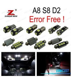 Kit completo de 29 bombillas LED interior para 1997-2002 Audi A8 S8 D2