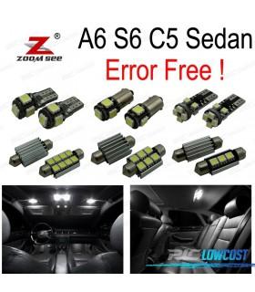Kit completo de 24 bombillas LED interior para Audi A6 S6 C5 sedán (1998-2004)