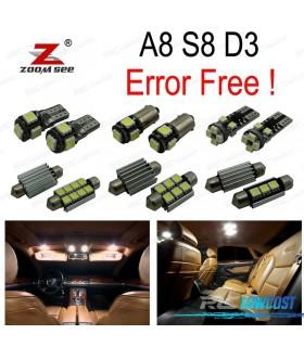 Kit completo de 25 bombillas LED interior para Audi A8 S8 D3 (2003-2009)