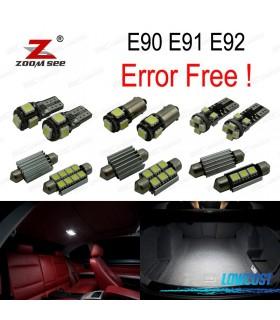 Kit completo de 9 bombillas LED interior para BMW Serie 3 E90 E91 E92 (2006-2011)