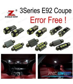 Kit completo de 21 bombillas LED interior para bmw Serie 3 E92 coupe 325i 330xi 335d 335i 335i xDrive (06-13)