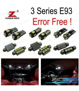 Kit completo de 18 bombillas LED interior para bmw Serie 3 E93 convertible (2006-2013) 318i 320d 320i 325d 325i 330d 330i 335i M