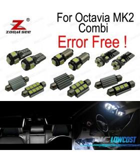 Kit completo de 18 bombillas LED interior para Skoda Octavia 2 MK2 MKII 1Z5 Combi raíces wagon (2005-2012)