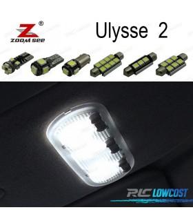 Kit completo de 15 bombillas LED interior para Fiat Ulysse 2 MK2 179 (2003-2011)