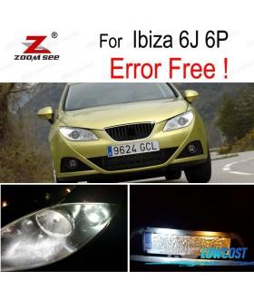 Kit completo de 6 bombillas LED interior para el asiento Ibiza V MK5 SPORTCOUPE ST 6J 6 P (09-16)