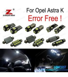 Kit completo de 13 bombillas LED interior para Opel Astra K OPC GTC (2015 +)