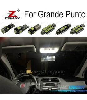 Kit completo de 9 bombillas LED interior para Fiat Grande Punto 199 (2005-2012)